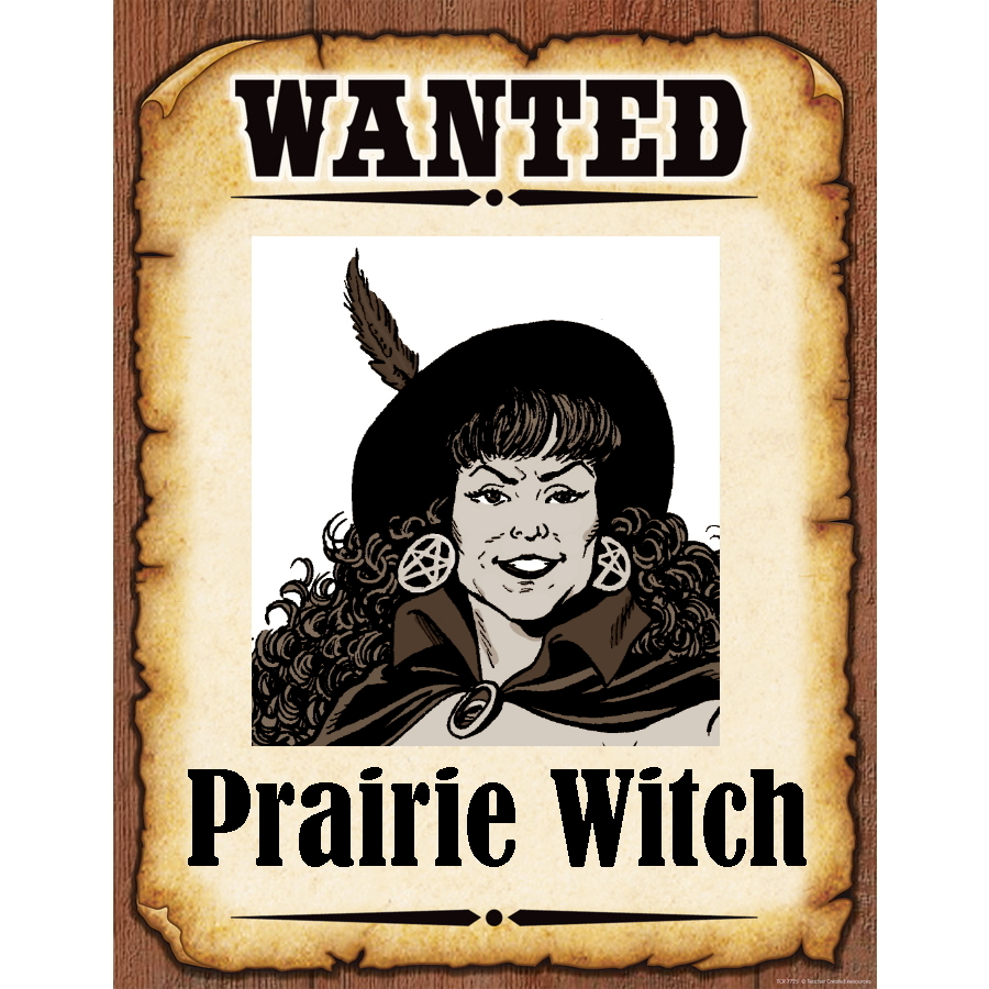 Wanted Poster Prairie Witch