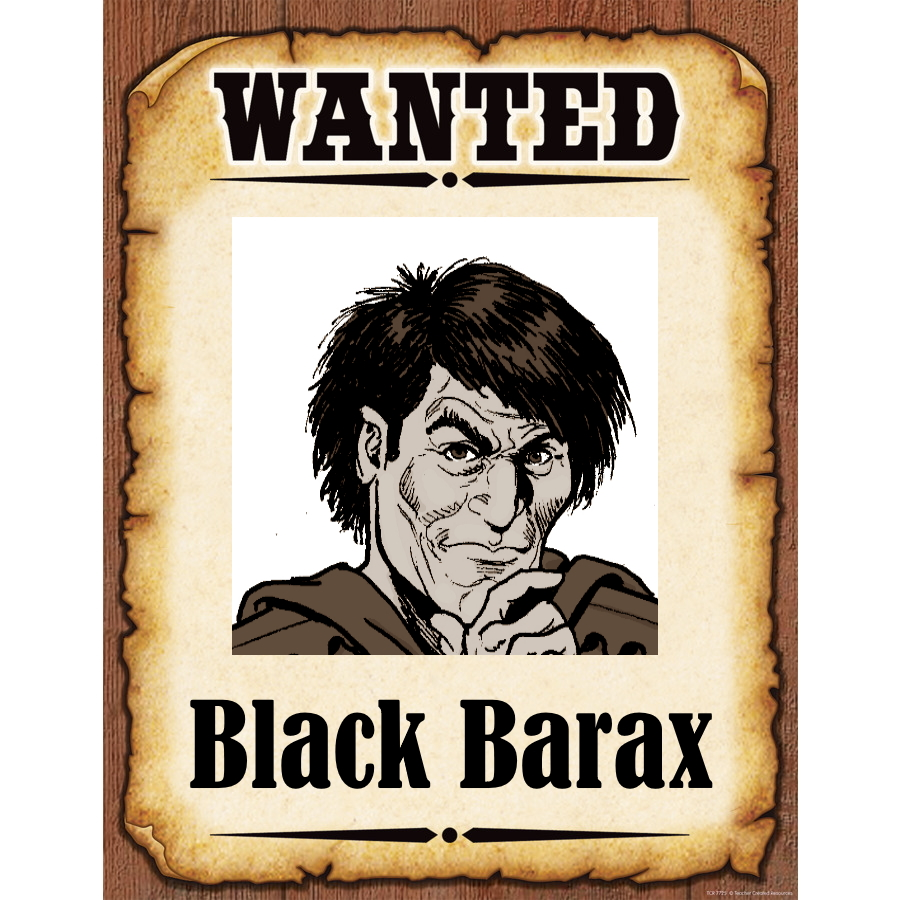Wanted Poster Black barax