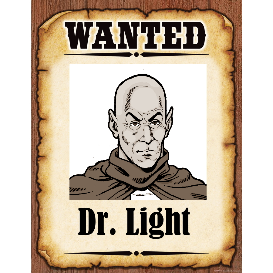 Wanted Poster Dr. Light