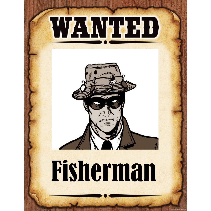 Wanted Poster Fisherman