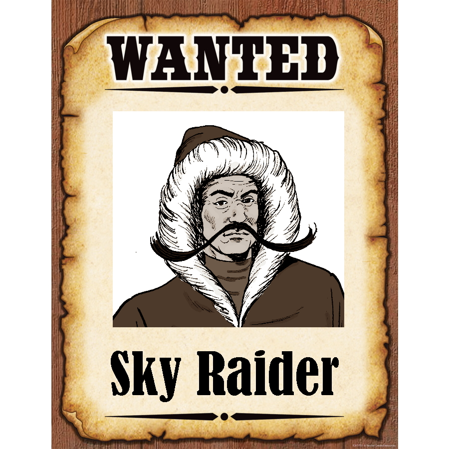 Wanted Poster Sky Raider