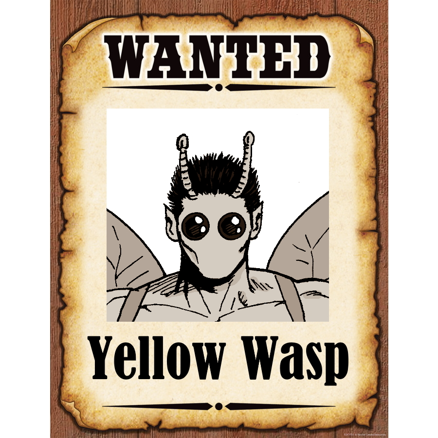 Wanted Poster Yellow Wasp