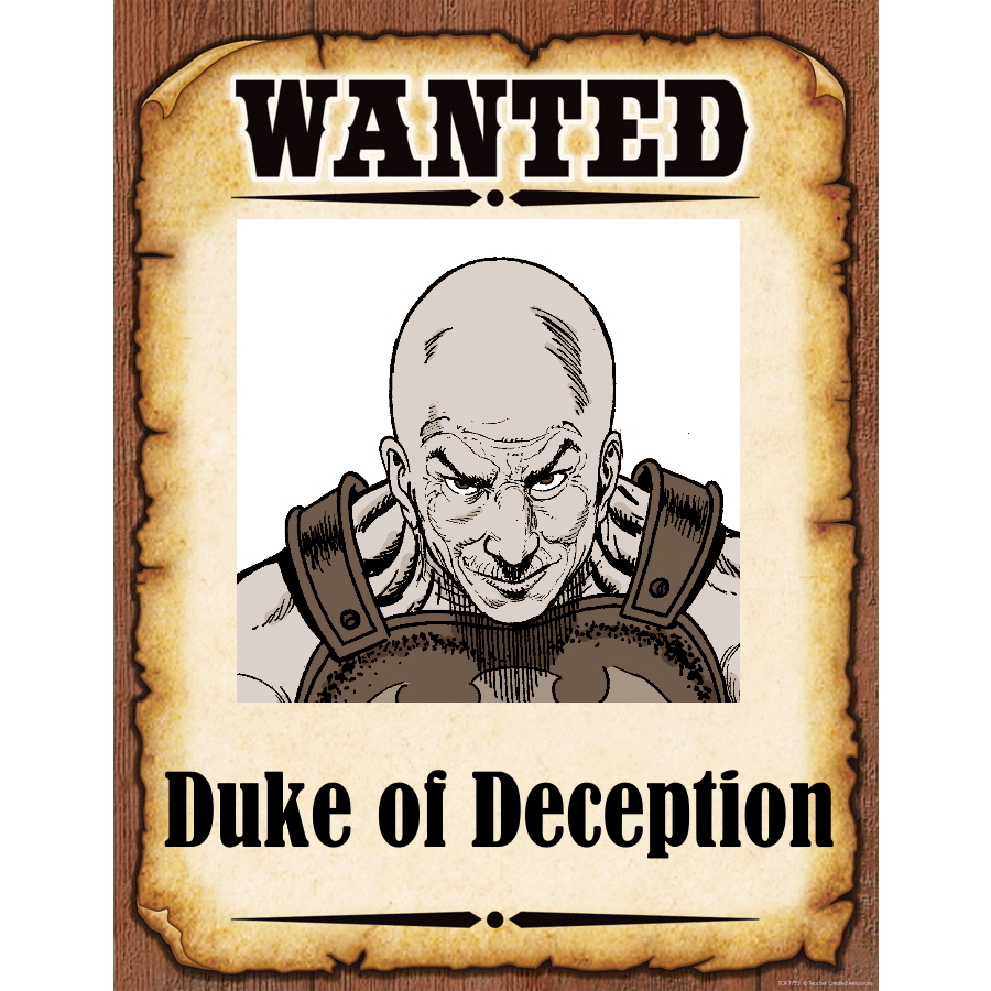 Wanted Poster Duke of Deception