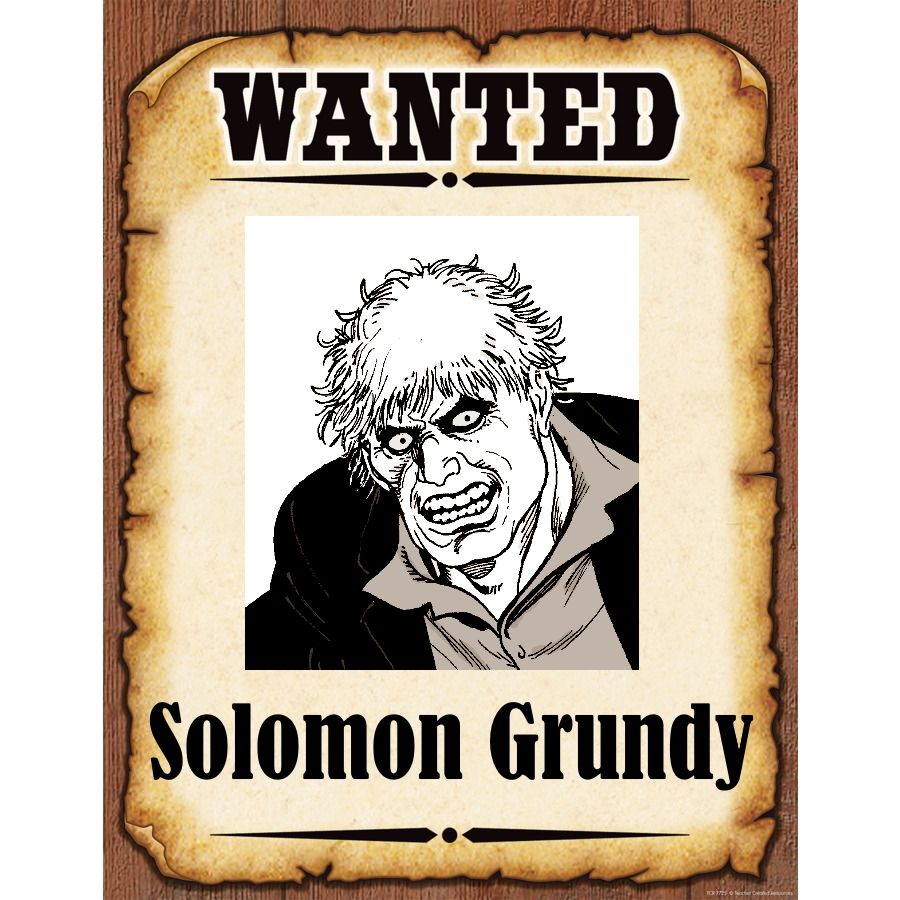 Wanted Poster Solomon Grundy