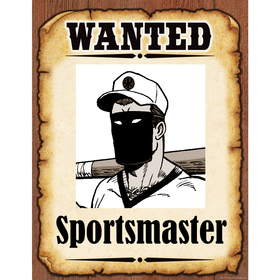 Wanted Poster Sportsmaster