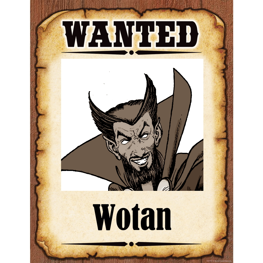 Wanted Poster Wotan